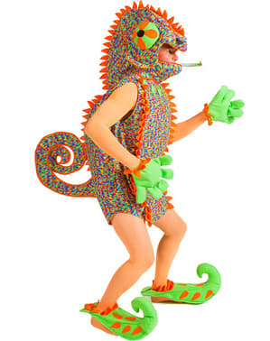 Chameleon costume for a man