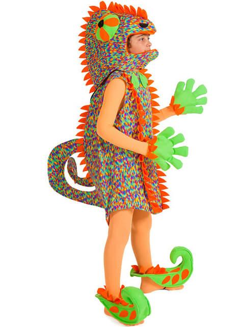 Chameleon costume for a toddler