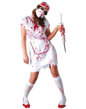 Bloederige zombie zuster kostuum