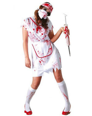 Кръвожадна зомби медицинска сестра костюм