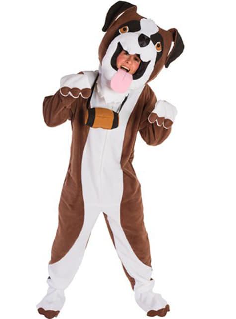 Saint Bernard dog costume for an adult