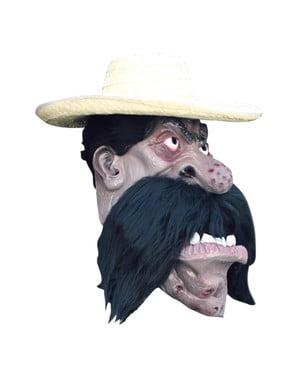 Mexikaner Maske Latex mit Schnauzbart