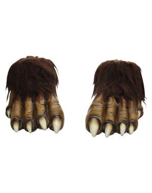 Pieds de loup-garou en latex