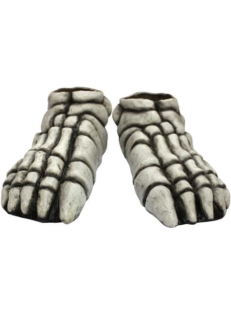 White skeleton feet