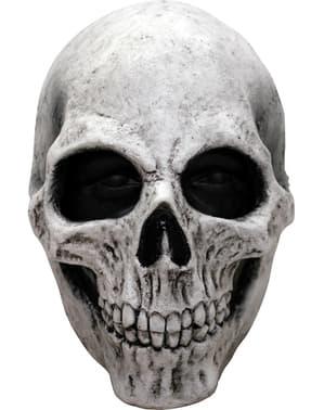 Máscara caveira branca em látex