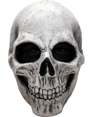 Masque tête de mort blanche en latex