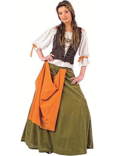 Костюм на момиче от средновековна кръчма за възрастни
