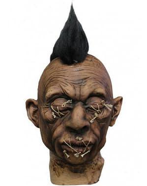 Gruseliger Kopf aus Latex mit Irokesenschnitt