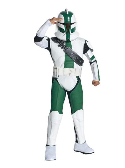 Disfraz de Comandante Gree Clone Trooper para niño