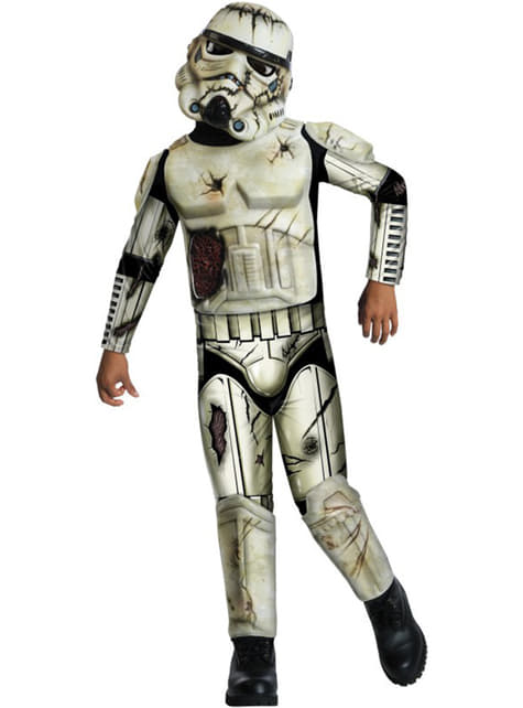 Stormtrooper zombie costume for a boy