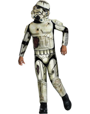 Fato de Stormtrooper zombie para menino
