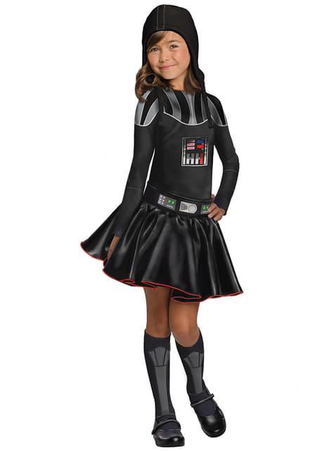Fato de Darth Vader para menina