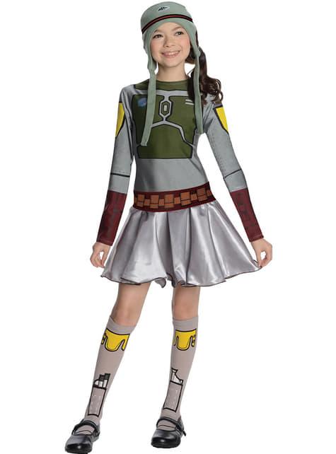 Disfraz de Boba Fett Star Wars para niña