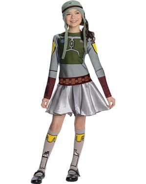 Star Wars Kvinnlig Boba Fett Maskeraddräkt Barn