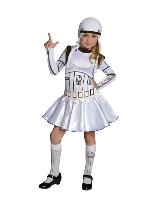 Stormtrooper costume for a girl