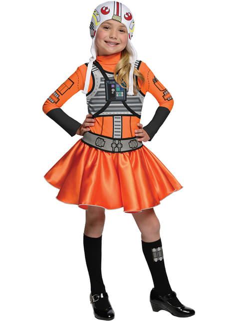 Strój pilot X-Wing Star Wars dla dziewczynki