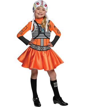 Costume da pilota X-Wing Star Wars da bambina