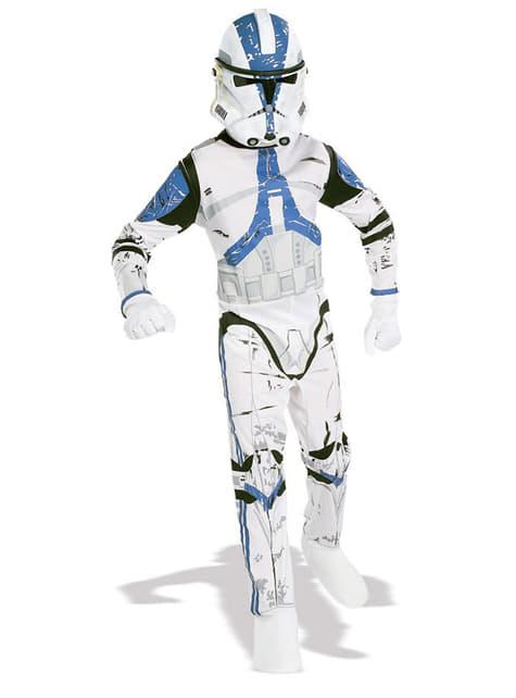 Star Wars Clone Trooper Legion 501 costume for a boy