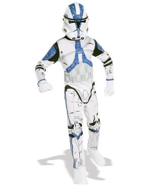 Fato de Clone Trooper Legião 501 Guerra das Estrelas para menino