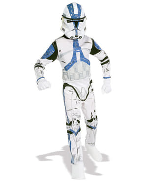 Star Wars Clone Trooper Legion 501 costume for a boy