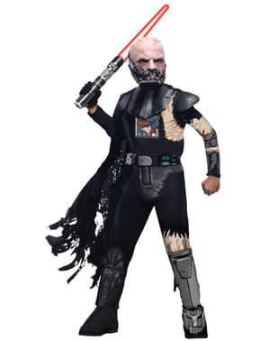 Disfraz de Darth Vader dañado en combate deluxe para niño