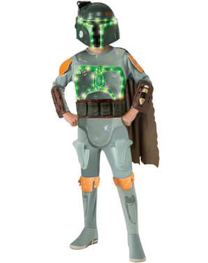 Costume da Boba Fett Star Wars luminoso da bambino