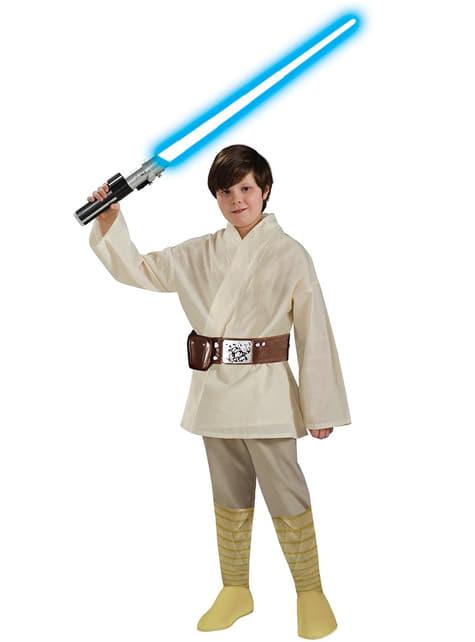 Fato de Luke Skywalker deluxe para menino