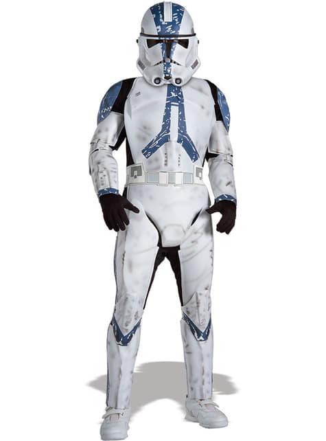 Strój Klon Trooper Legion 501 Star Wars deluxe dla dzieci