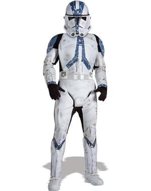 Fato de Clone Trooper Legião 501 Guerra das Estrelas deluxe para menino