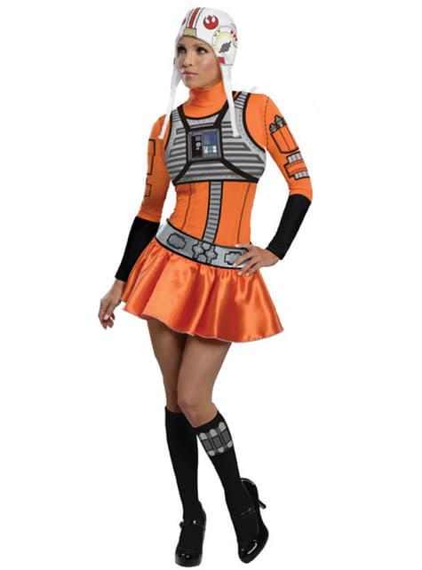 女性のためのスターウォーズXウィングパイロット衣装