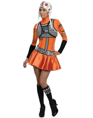 Pilot X-Wing Star Wars Kostuum voor vrouw