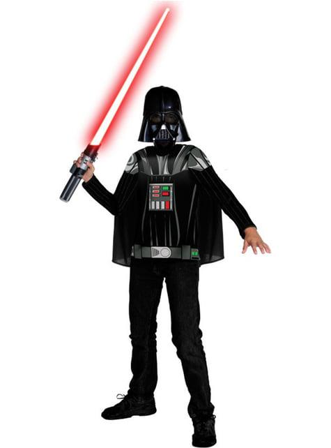 Kit fato Darth Vader para menino