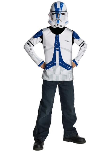 Kit disfraz Clone Trooper Legión 501 Star Wars para niño