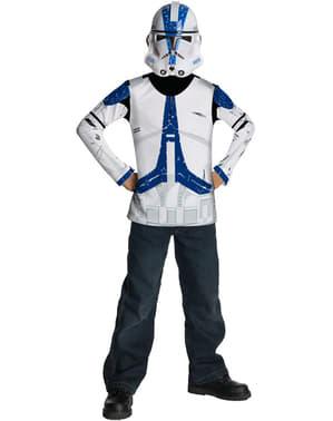 Kit costum Clone Trooper Legiunea 501 Star Wars pentru băiat