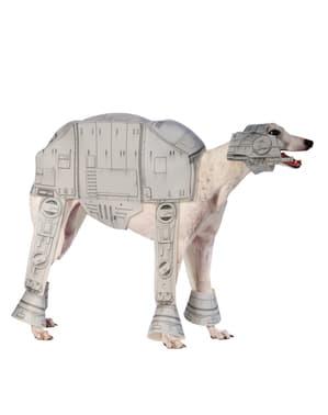 犬のためのインペリアルウォーカー衣装でのスターウォーズ