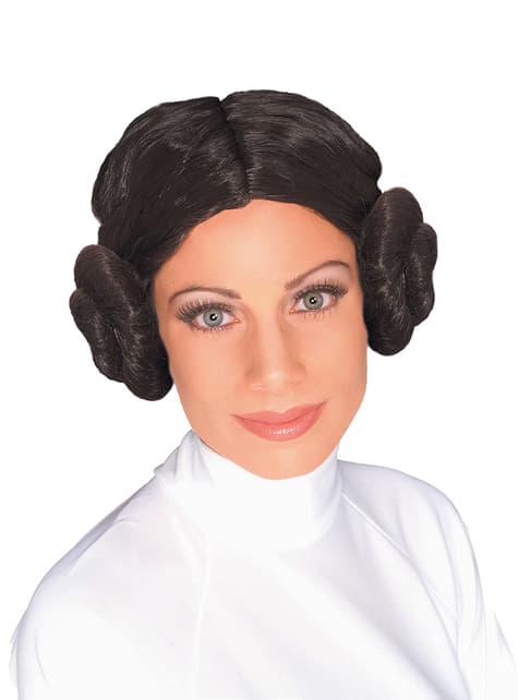 Dámská paruka princezna Leia