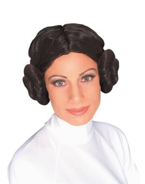 Pruik van Prinses Leia voor vrouw