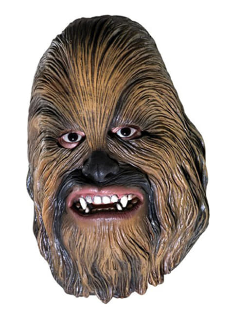 Chewbacca 3/4 mask for an adult