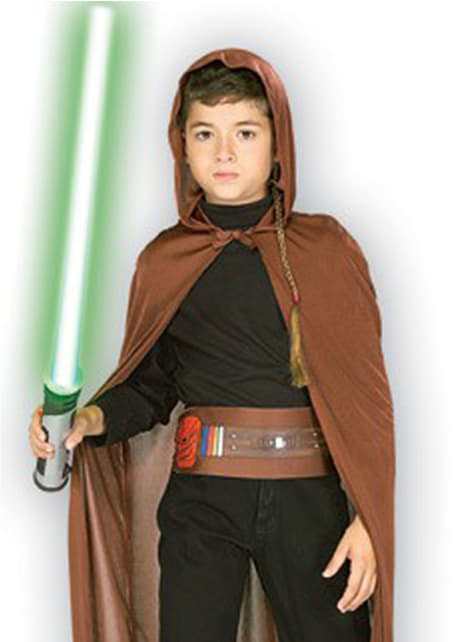 Jedi knight costume kit for a boy