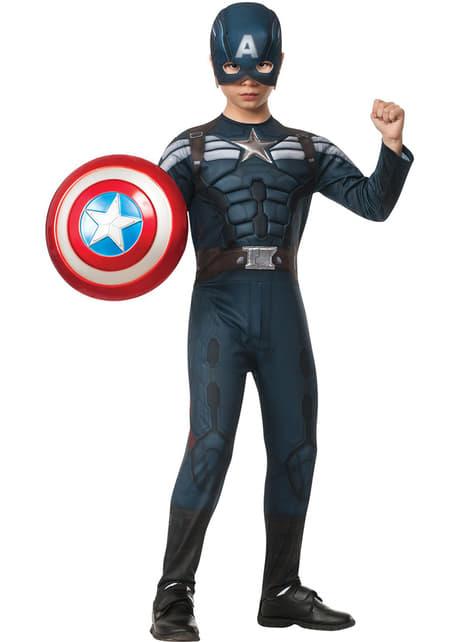 קפטן אמריקה חורף Solider חליפה התגנבות תחפושת עבור ילד