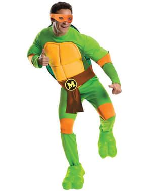 Fato de Mikey Tartarugas Ninja para homem