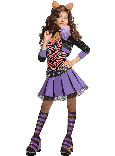 Clawdeen Wolf deluxe kostume Monster High