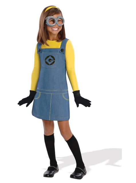 Disfraz de Minion Dave para niña