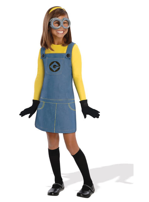 Minion Dave Despicable Me costume for a girl