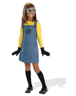 Costume da Minion Dave gru Cattivissimo Me da bambina