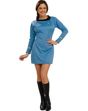 Star Trek Deluxe Kvinnlig Maskeraddräkt Blå Vuxen