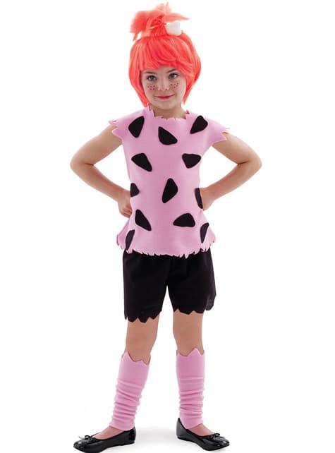 Pebbles Flintstone kostume til piger
