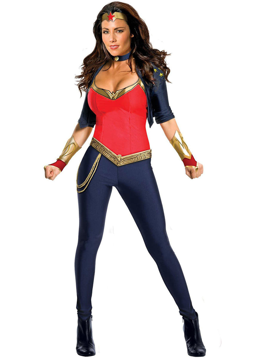 costume de wonder woman luxe pour femme les plus amusants funidelia. Black Bedroom Furniture Sets. Home Design Ideas