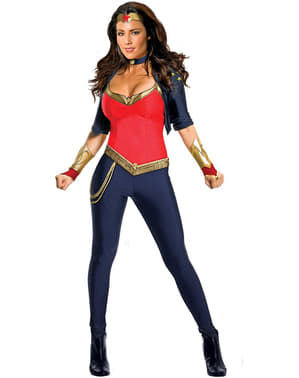 Wonder Woman Kostüm für Damen deluxe
