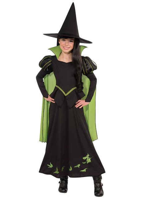 Kostium nikczemna wiedźma ze wschodu Czarnoksiężnik z krainy Oz dla dziewczynki